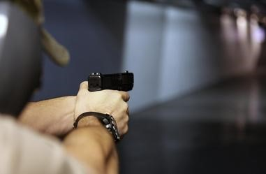 FIREARM GUN RANGE CLOSE UP